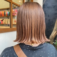 bob hair *beige color