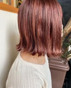 bob × pink hair