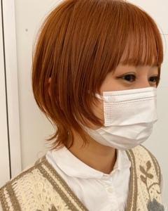 orange♡ショートウルフヘア